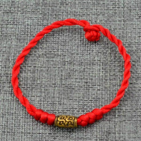 1 Pi Ces Vente Bracelets Breloques Mode Fil Rouge Cha Ne Bracelet Chanceux Beadlucky Fait Main 1
