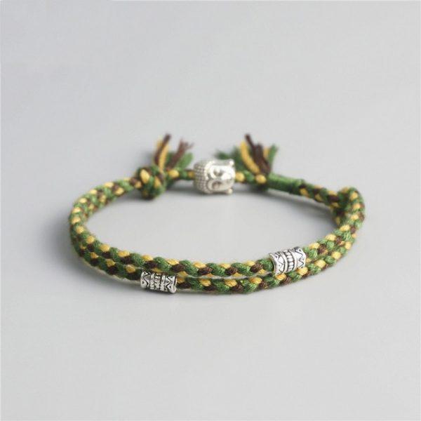 Bracelet Tibétain Fait Main Vert