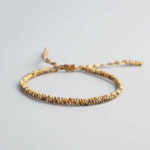 Bracelet de la chance – Tressé – Jaune