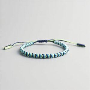 Bracelet de la chance – Tressé – Noir/Bleu