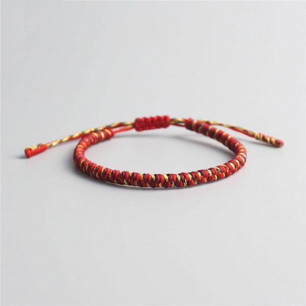 Bracelet De La Chance – Tressé Rouge Jaune