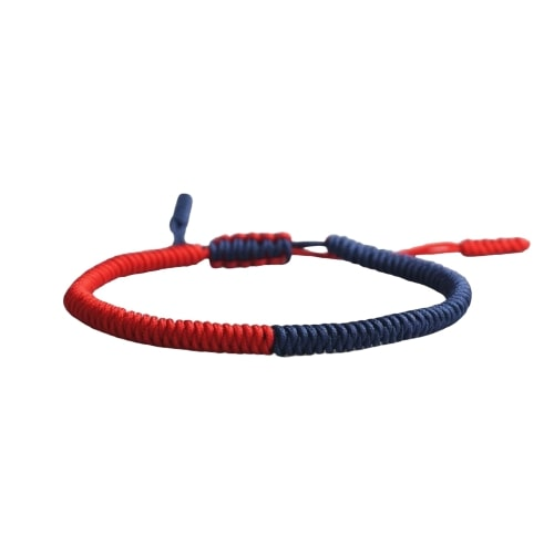Bracelet De La Chance Bicolore Rouge Bleu