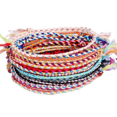 Bracelet Tibétain Multicolore Porte Bonheur