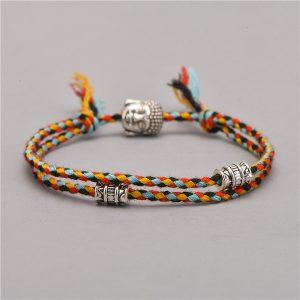 Bracelet Tibétain – Tête de Bouddha – Noir