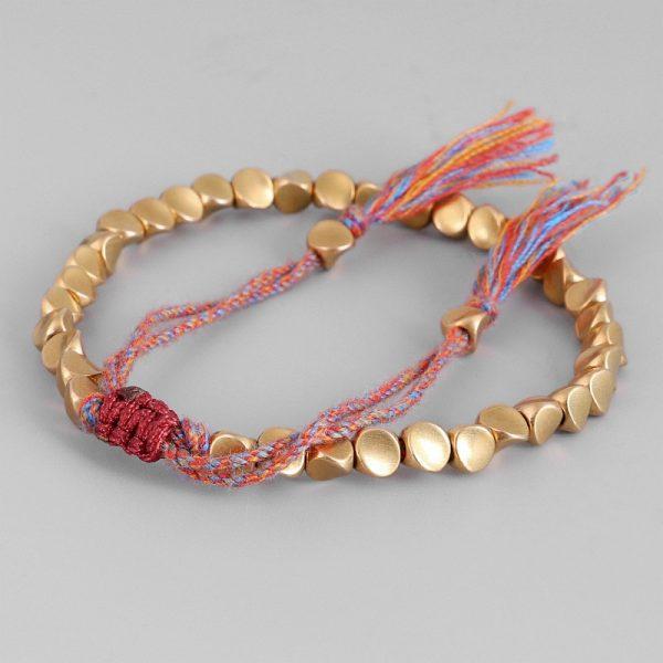bracelet tibétain en perle de cuivre