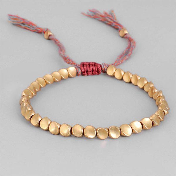 Bracelet Tibétain - Perles de cuivre