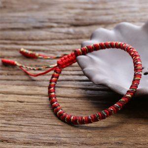 Bracelet de la chance | Fait main – Rouge