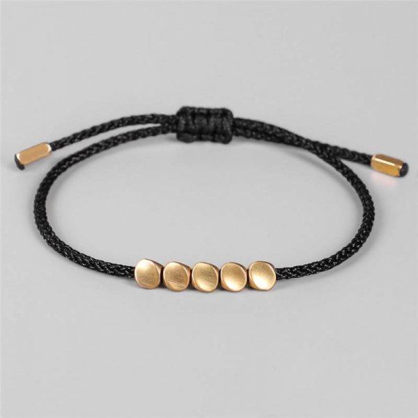 Tib Tain Bouddhiste Cr Atif Irr Gulier Cuivre Perles Rouge Noir Corde Tirant Bracelet Pour Femmes 1