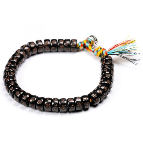 TibéTain Bouddhiste Tress La Main Coton Fil Bracelet Femmes Hommes Naturel Noix De Coco Perles 2