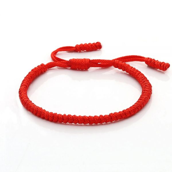 bracelet tibetain fait main rouge