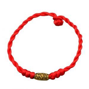 Bracelet Tibétain Rouge – Fait Main