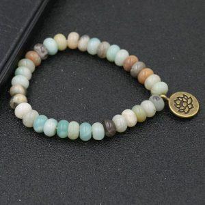 Bracelet 7 chakras pendentif – Lotus