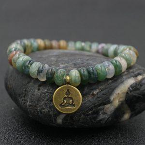 Bracelet 7 chakras pendentif Bouddha