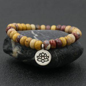 Bracelet 7 chakras pendentif – Lotus 2