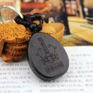 Porte-clés bouddha noir