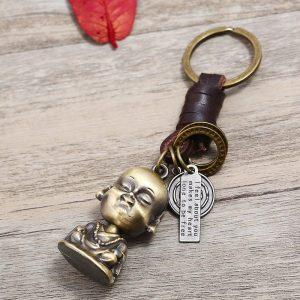 Porte-clés petit moine Bouddha