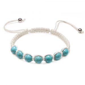 Bracelet 7 chakras tibétain – Pierres bleues