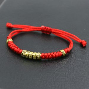 Bracelet porte bonheur tibétain – rouge