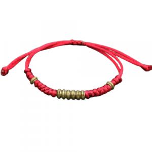 Bracelet Tibétain Bordeaux