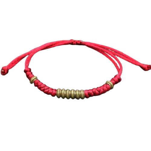 bracelet tibetain bordeaux