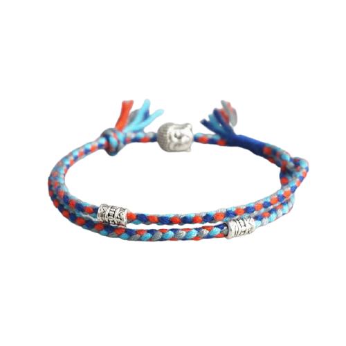 bracelet tibétain fait main bleu