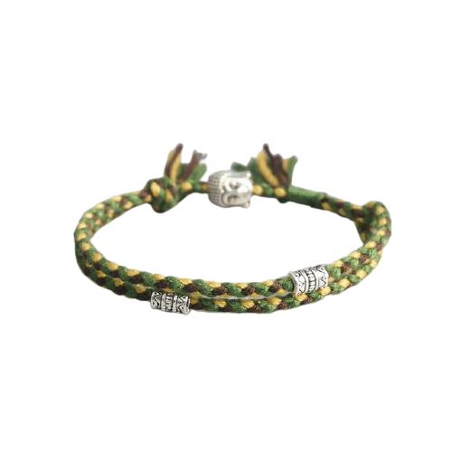 bracelet tibetain fait main vert