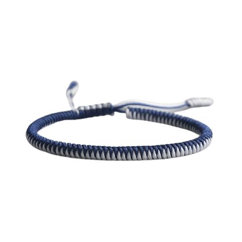 bracelet de la chance tresse bicolore bleu blanc