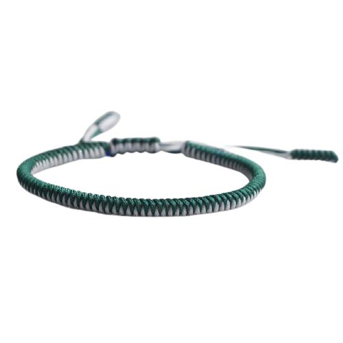 bracelet de la chance tresse bicolore vert blanc