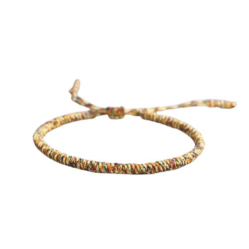 bracelet de la chance tresse jaune