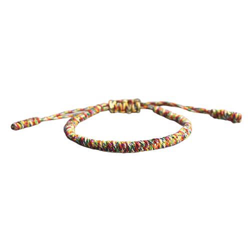 bracelet de la chance tresse multicolore