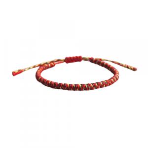 Bracelet de la chance – Tressé – Rouge/Jaune