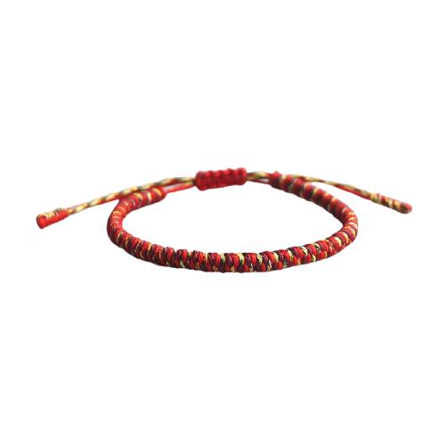 bracelet de la chance tressé rouge jaune