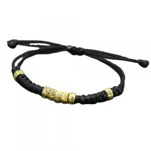 Bracelet porte bonheur tibétain – noir