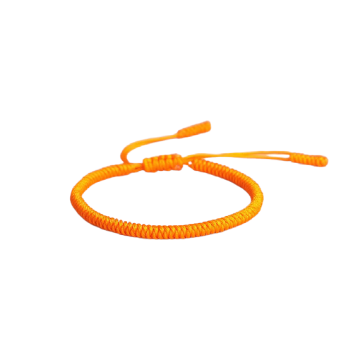 bracelet tibetain orange