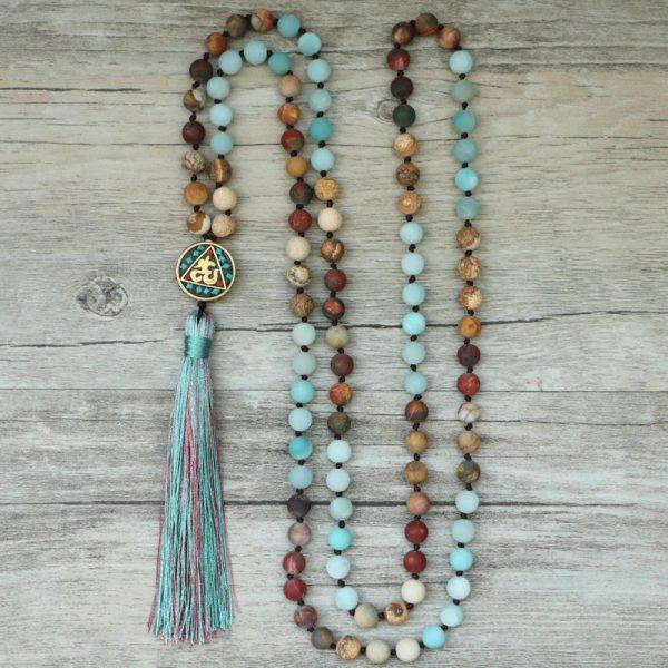 collier mala du tibet