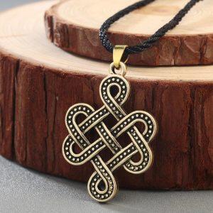 Collier nœud tibétain