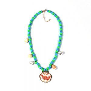 Pendentif tibétain turquoise corail