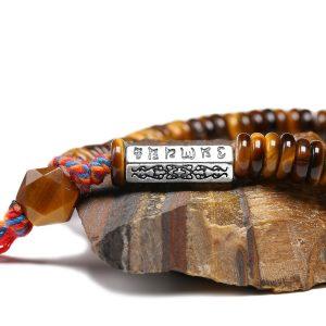 Bracelet Tibétain œil de tigre