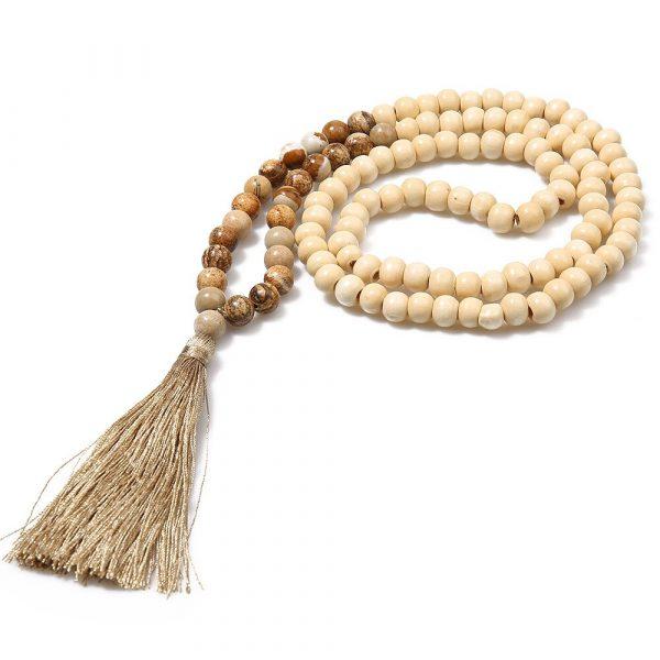 collier tibetain perles
