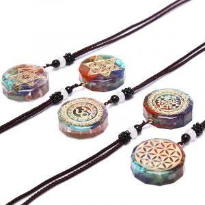Collier et pendentif tibétain
