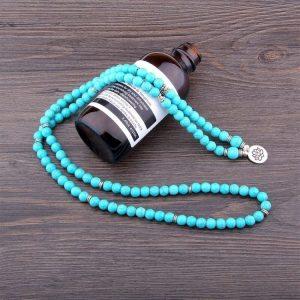 Mala tibétain turquoise