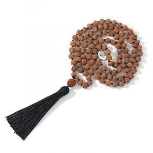 Mala tibétain graines de rudraksha